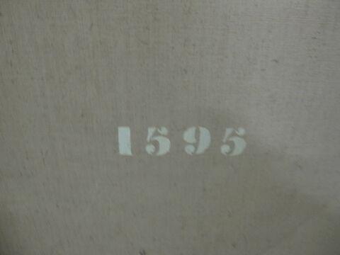 dos, verso, revers, arrière ; détail marquage / immatriculation © 2014 Musée du Louvre / Peintures