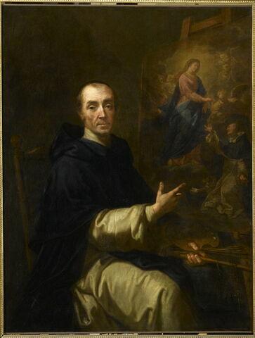 Portrait de l'artiste peignant Notre-Dame du Rosaire