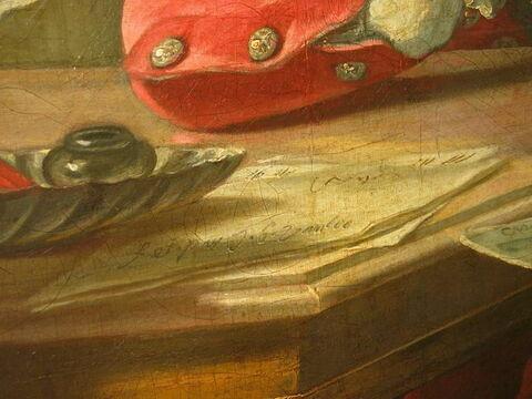 face, recto, avers, avant ; détail signature © 2009 Musée du Louvre / Peintures