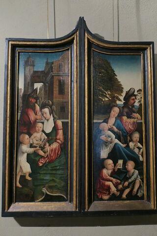 Volet intérieur de retable : Marie Cleophée et ses quatre fils ; Volet extérieur : Saint Pierre