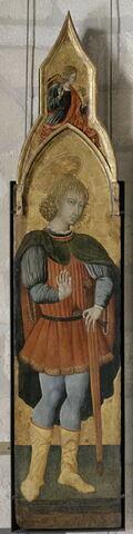 Saint Vittorino (?) (au-dessus : l'Ange de l'Annonciation)