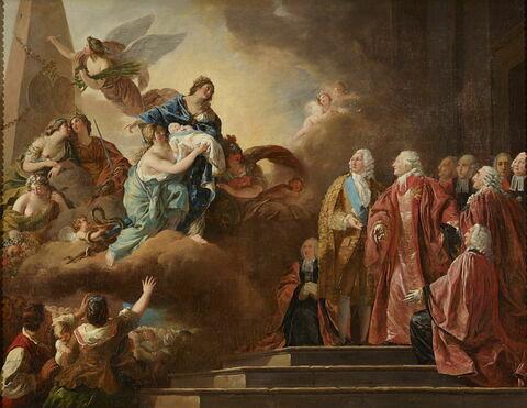 Allégorie de la naissance du Dauphin, le 22 octobre 1781
