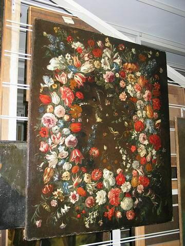 Couronne de fleurs (camélias)