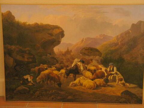 La Descente des troupeaux de la montagne (Hautes-Pyrénées)