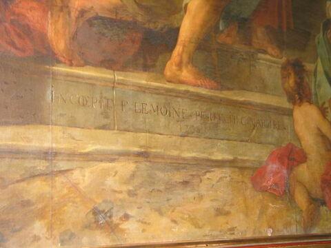 face, recto, avers, avant ; détail signature © 2004 Musée du Louvre / Peintures