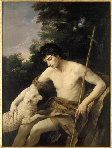 Saint Jean Baptiste caressant l'agneau sans tache