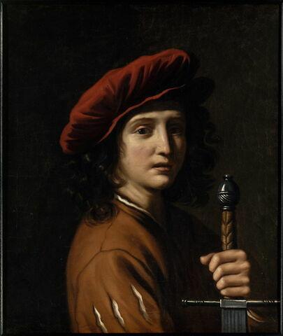 David tenant une épée