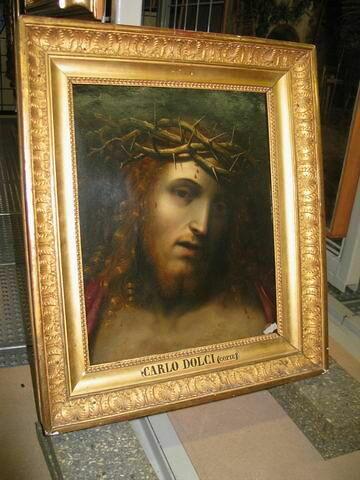 Tête de Christ couronnée d'épines