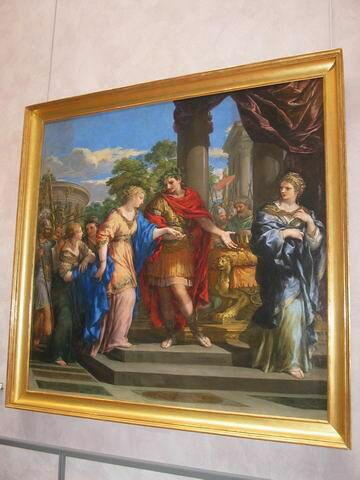 César remet Cléopâtre sur le trône d'Égypte