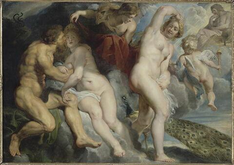 Ixion, roi des Lapithes, trompé par Junon qu'il voulait séduire