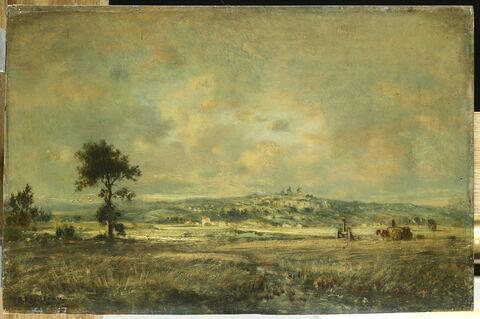 Vue de la plaine de Montmartre; effet d'orage