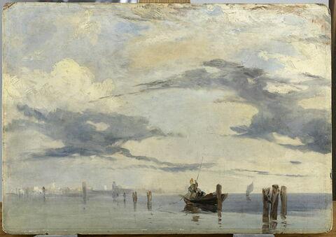 Sur l'Adriatique, la lagune près de Venise