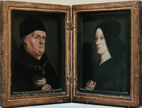 face, recto, avers, avant ; vue d'ensemble ; vue avec cadre ; ouvert © 1999 Musée du Louvre / Peintures