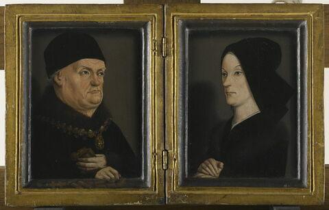 face, recto, avers, avant ; vue d'ensemble ; ouvert ; vue avec cadre © 2006 RMN-Grand Palais (musée du Louvre) / Thierry Le Mage