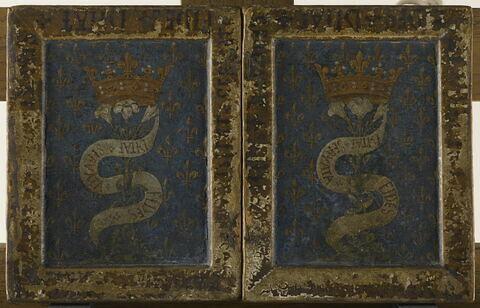 dos, verso, revers, arrière ; vue d'ensemble ; vue avec cadre ; ouvert © 2006 RMN-Grand Palais (musée du Louvre) / Thierry Le Mage