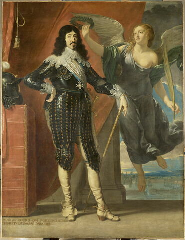 Louis XIII couronné par la Victoire (Siège de La Rochelle, 1628)