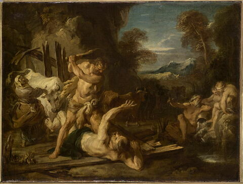 Hercule assommant Cacus