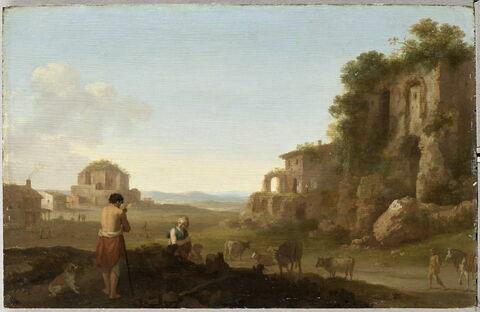 Ruines du Palais des empereurs et temple de Minerva Medica à Rome