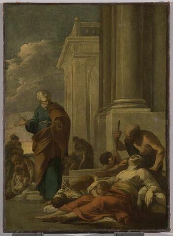 Saint Pierre guérissant les malades avec son ombre