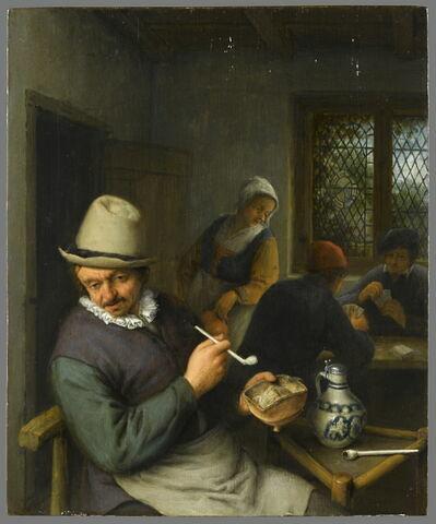 Fumeur dans une taverne