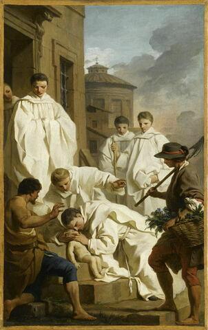 Saint Benoît ressuscite un enfant