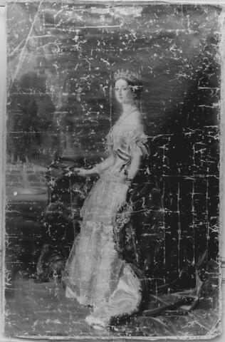 L'impératrice Eugénie (1826-1920) en pied.