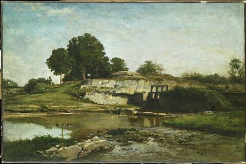 La vanne d'Optevoz (Isère).