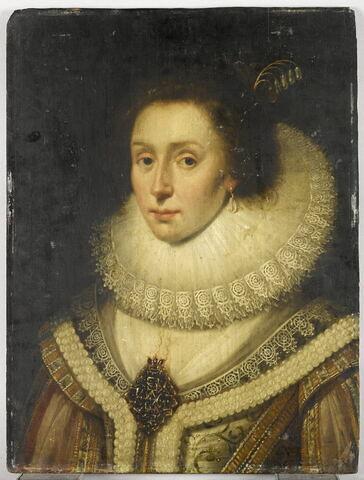 Portrait d'Amalia van Solms (1602-1675), épouse de Frédéric-Henri de Nassau, prince d'Orange et Stadhouder des Provinces-Unies, dit à tort Portrait d'Élisabeth, reine de Bohême, épouse de Frédéric V, électeur palatin