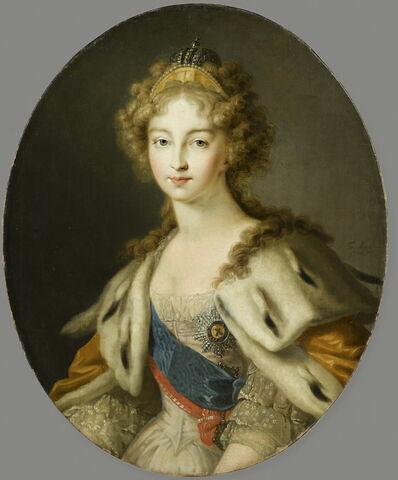 Portrait de l'impératrice Elisabeth Alexeevna (1779-1826), épouse  du tsar Alexandre Ier, 1815