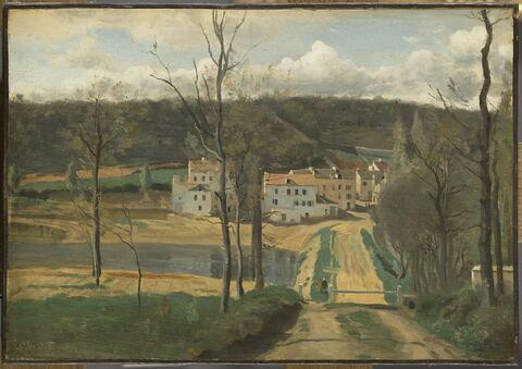 Ville-d'Avray. L'étang, la maison Cabassud et l'extrémité de la propriété Corot.