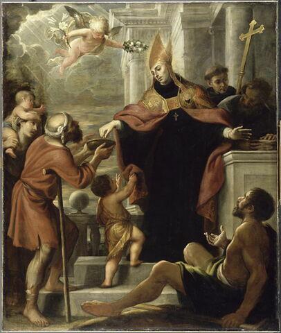 Saint Thomas de Villeneuve (1486-1555) distribuant les aumônes