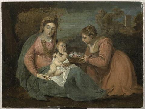 La Vierge, l'Enfant Jésus et sainte Dorothée