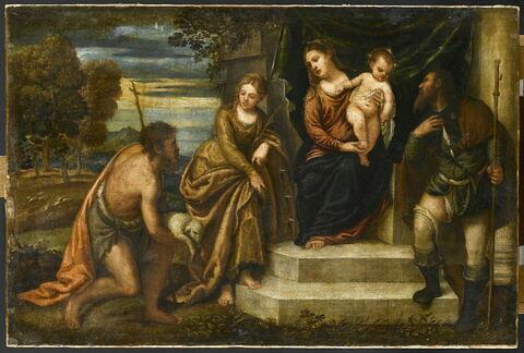 La Vierge à l'Enfant avec saint Jean Baptiste, sainte Catherine d'Alexandrie et saint Roch