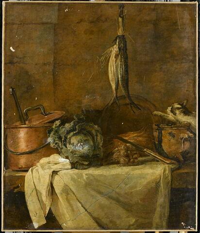 La Table de cuisine, dit aussi Le Larron en bonne fortune, ou Les Harengs avec chat.