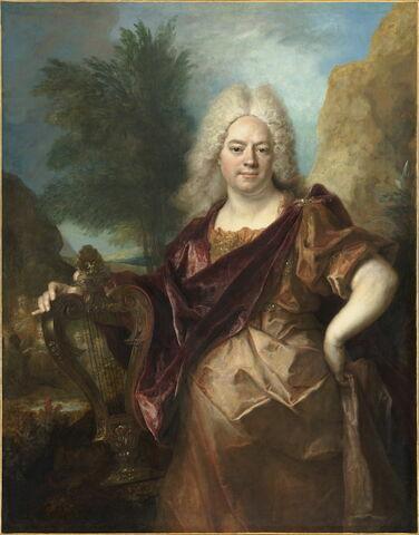 Portrait d'homme en Apollon