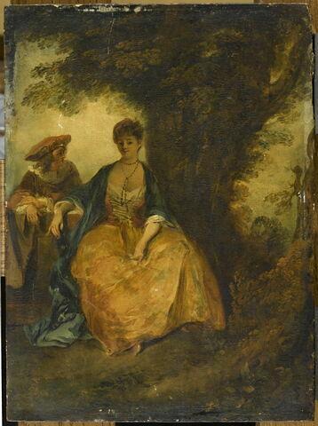Conversation galante, dit aussi Deux figures dan sun paysage, ou La Conversation sous l'arbre