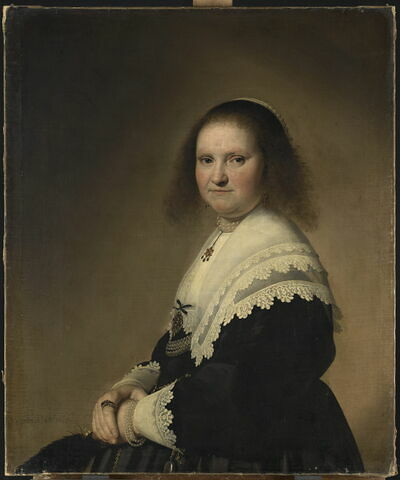 Portrait d'Anna van Schoonhoven (avant 1610-1648), femme du bourgmestre de Haarlem, Johan Colterman