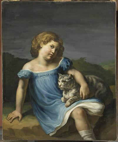 Louise Vernet enfant, fille du peintre Horace Vernet, plus tard femme du peintre Paul Delaroche.