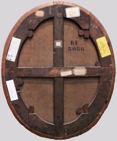 dos, verso, revers, arrière ; vue d'ensemble ; vue sans cadre © 2019 Musée du Louvre / Peintures