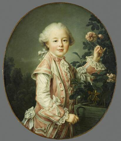 Le comte de Nogent, enfant. Paul-Esprit-Charles de Boullongne,  (1758-1838), fils de l'intendant des Finances, Jean-Nicolas de Boullongne.