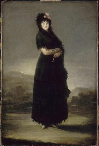 Portrait de Mariana Waldstein, 9e marquise de Santa Cruz (1763-1808)