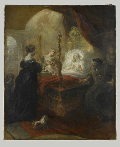 Saint François de Paule (1436-1507) prophétisant un fils à Louise de Savoie