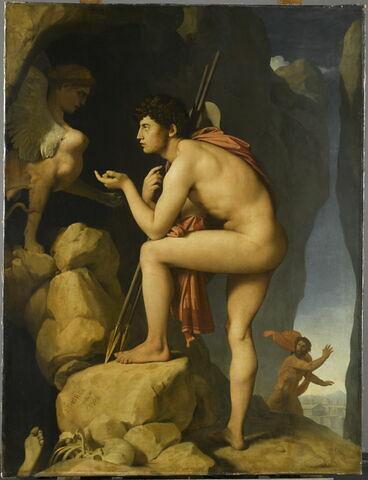 Oedipe explique l'énigme du sphinx