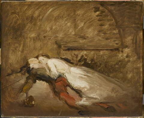Roméo et Juliette. Esquisse. (Shakespeare, Roméo et Juliette, acte V, scène 3).