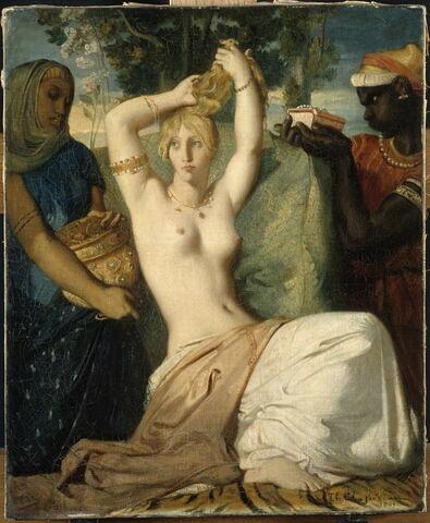 Esther se parant pour être présentée au roi Assuérus, dit aussi La toilette d'Esther.