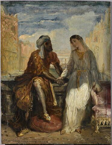 Othello et Desdémone à Venise. Othello rcontant à esdémone sa vie (Shakespeare, Othello, acte I, scène 3).