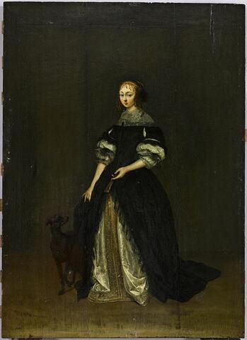 Portrait d'une femme avec un chien
