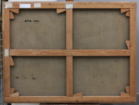 dos, verso, revers, arrière ; vue d'ensemble ; vue sans cadre © 2017 Musée du Louvre / Peintures