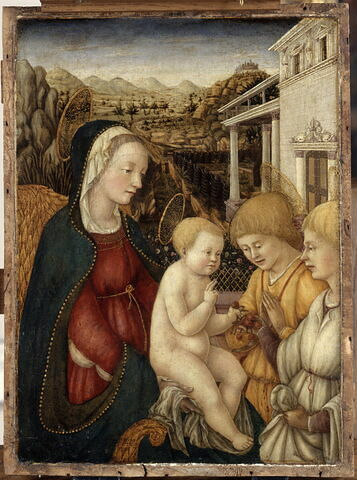 La Vierge et l'Enfant avec deux anges