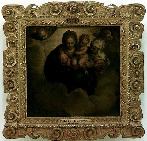 La Vierge à l'Enfant en gloire avec sainte Anne